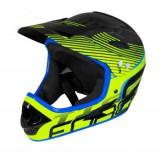 Casca de protectie Force FRC902104 Tiger Downhill pentru trotineta electrica si bicicleta (Negru/Albastru)
