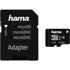 Card Hama microSDHC 16GB cu adaptor