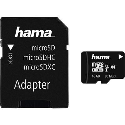 Card Hama microSDHC 16GB cu adaptor foto
