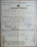 Polita de asigurare 1903-1904 Comitatul Maramuresului,Regatul Maghiar.Rar.