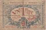 MONACO 1 FRANC 1920 UZAT