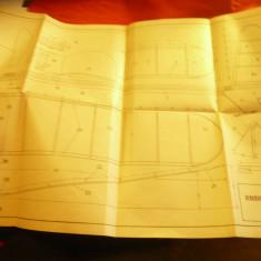 Plansa pt Aeromodel cu motor cauciuc scara 1:1 , dim.= 40x36,5 cm