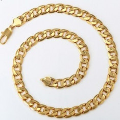 Lant Barbati masiv,103gr,dublu placat Aur 24K