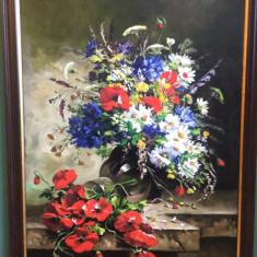20 Tablou floral Pictura cu flori Tablou cu maci Tablouri flori de camp 45x62cm