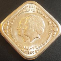 Moneda COMEMORATIVA RARA 5 CENTI - OLANDA 1945 - 1980  *cod 753