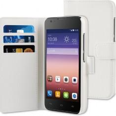 Husa Telefon Wallet Book Huawei Ascend y550 White BeHello