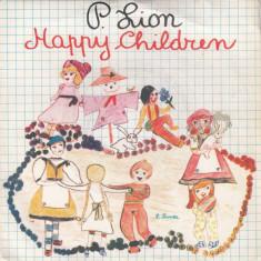 """P. Lion - Happy Children (1983, Carrere) disc vinil single 7"""""""