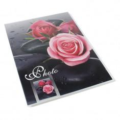 Album foto Black Roses, 36 poze format 15x21, 18 file albe, imprimeu trandafiri