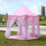 Cumpara ieftin Cort de joaca copii pentru printese fete fata fetite castel roz