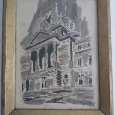 Tablou Vechi - S.Vergulescu - C.E.C. Bucuresti
