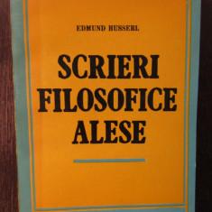 EDMUND HUSSERL-SCRIERI FILOSOFICE ALESE