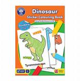 Cumpara ieftin Carte de colorat cu activitati in limba engleza si abtibilduri - Dinozaur, orchard toys