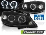 Faruri compatibile cu Opel ASTRA G 09.97-02.04 ANGEL EYES CCFL Negru