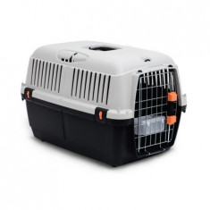 Cusca transport animale , Bracco travel 1, usa metal , Gri Negru 48 x 32 x 31 cm Pet Star