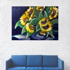 Tablou Canvas, Peisaj Floarea Soarelui - 80 x 100 cm