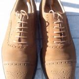 Pantofi artizanali barbati Italia, Alta, Maro