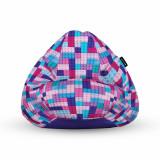 Fotoliu Units Puf Bean Bags tip para impermeabil cu maner lego tetris mov