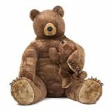 Urs brun cu pui din plus
