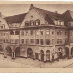 Carte poștală Brașov Hotel Coroana