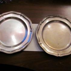 PVM Tava veche rotunda alama argintata / d = 32,50 cm & h = 3 cm / niciun marcaj