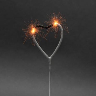 Artificii pt. tort, model inimă, 16 cm Best CarHome foto