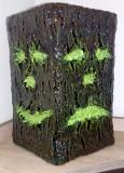 Pusculita decorativa sculptata in papier mache