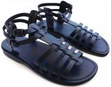 Sandale Dama Joase Gladiator Negre, 35 - 41, Negru, Piele naturala, Sandaleromane