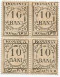 România, LP IV.12/1920, Taxă de plată, h. albă, fără filigran, eroare 3, MNH