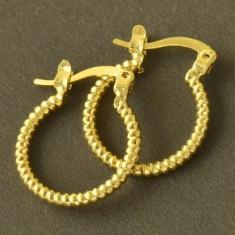 Cercei dublu placati aur 24K