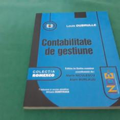 CONTABILITATE DE GESTIUNE/ LOUIS DUBRULLE/ 2002