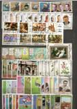 Ajman.Lot peste 530 buc. timbre+255 buc. colite/minicoli stampilate DL.87, Asia