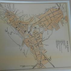 Harta Brasov, 1920, Drotleff Sibiu, 35x31 cm, lb. franceza, impecabila