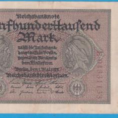 (5) BANCNOTA GERMANIA - 500.000 MARK 1923 (1 MAI 1923), CU SERIE PE VERSO