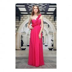 Rochie lunga eleganta, de culoare fuchsia, 2XL, 3XL, L, M, S, XL