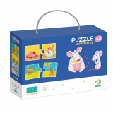 Duo Puzzle - Notiuni opuse (2 piese) PlayLearn Toys