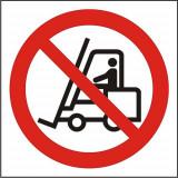 Indicator Interzis vehiculelor de manipulare a marfurilor(2) - Semn Protectia Muncii