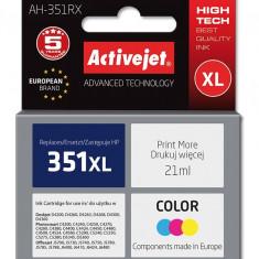 Cartus compatibil HP-351xl color pentru HP CB338EE, Premium Activejet, Garantie 5 ani