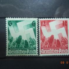 1936  Germania ( Reich ) Mi 632 - 633  Serie completa**, Nestampilat
