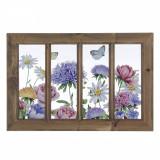 Tablou decorativ cu rama Flowers 49x2x33h, Bizzotto