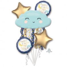 Buchet Baloane Twinkle Little Star, 38507, set 5 bucati