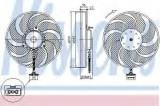 Ventilator, radiator VW BORA Combi (1J6) (1999 - 2005) NISSENS 85545