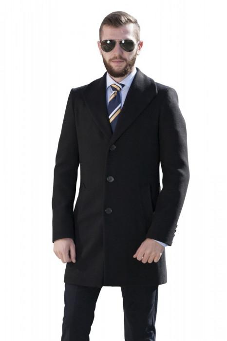 Palton barbati business negru B152