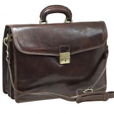 Servieta din piele naturala, geanta laptop, S118