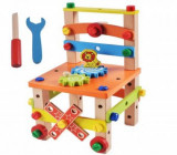 Scaun multifunctional lemn Montessori
