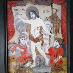 """Iesirea din Mormant"" - iconar Ion Prodan, Majerii Alba Iulia, icoana pe sticla"