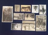 Fotografie veche -lot vederi și fotografii soldați -ofițeri -ww2 război mondial