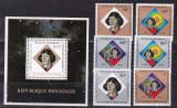 Rwanda  1973   cosmos  Copernic  MI  612-617  + bl.37   MNH, Nestampilat