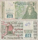 1988 ( 14 VII ) , 1 pound ( P-70d.3 ) - Irlanda