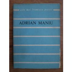 POEZII - ADRIAN MANIU