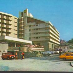"CPI B 11934 CARTE POSTALA - SINAIA. HOTEL ""MONTANA"", AUTOTURISM DACIA, ARO"